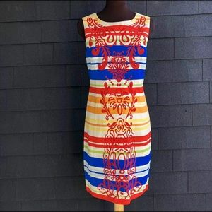 Tabitha Anthropologie Banded Totem Retro Dress